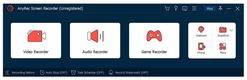 Record video, record audio, screen capture